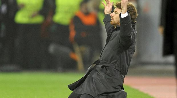 Chelsea's head coach Andre Villas-Boas reacts on the pitch during the Champions League Group E soccer match between Bayer Leverkusen and Chelsea FC in Leverkusen, Germany