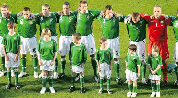 Make a stand: Paul McVeigh says Northern Ireland team need a new anthem