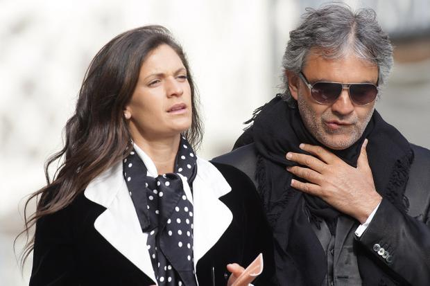 Italian tenor Andrea Bocelli and his wife Veronica Berti