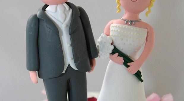 The number of married couples in England and Wales continues to decline, figures have shown