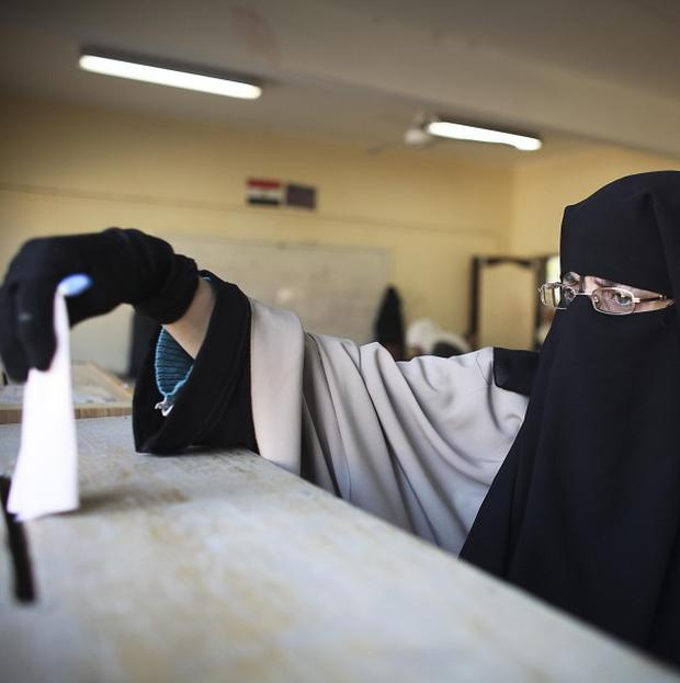Egyptians flocked to vote in the first parliamentary elections since the toppling of Hosni Mubarak