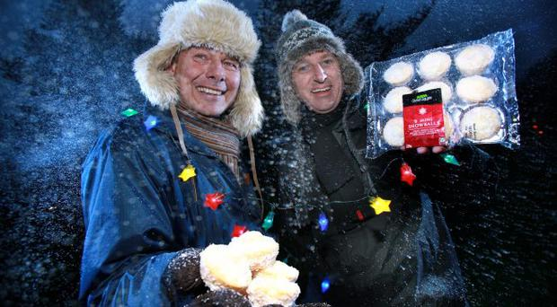 Northern Ireland bakery firm Irwin's is enjoying an early white Christmas after winning a £150,000 contract with Asda. Howell Handmade, owned by Irwin's, will supply 'mini snowball' cakes for Asda's Chosen By You range over the Christmas period. Stefan Szymura, account manager at Irwin's Bakery (left), joins Asda's bakery and produce buyer David Quigg to celebrate the deal
