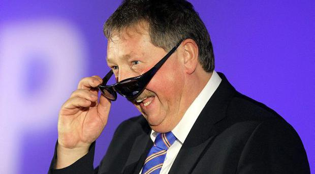 Crude cameo: Sammy Wilson produced a tasteless stand-up routine at the DUP conference