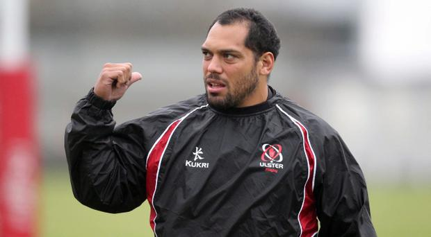 ©Press Eye Ltd Northern Ireland - 8th November 2011 Mandatory Credit - Picture by Darren Kidd/Presseye.com Ulster's John Afoa during training