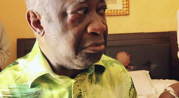 Laurent Gbagbo is being held in custody at The Hague airport