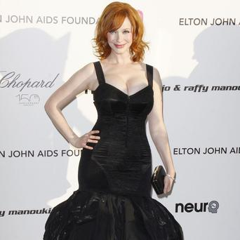 Christina Hendricks plays Chris Colfer's stepmother in the film