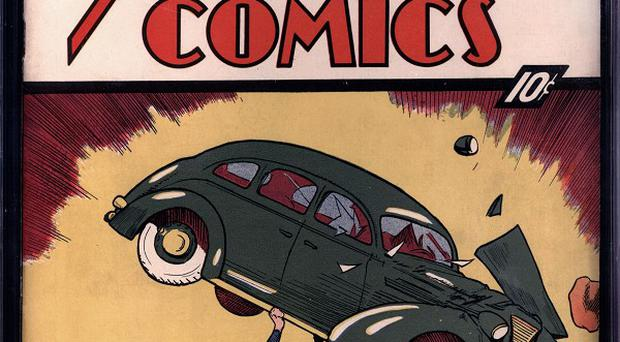 A first issue of Action Comic was sold for more than two million US dollars at auction (AP/Metropolis Collectibles/ComicConnect)