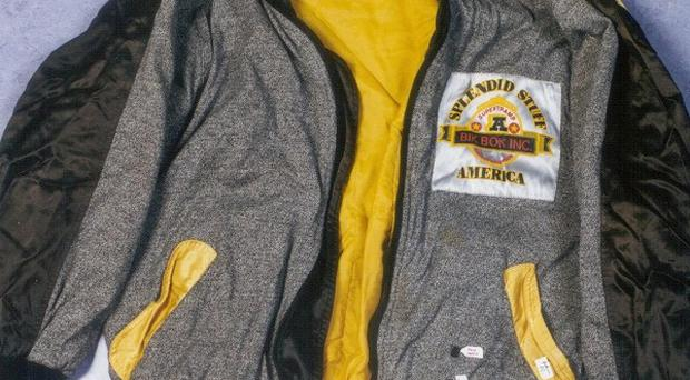 The jacket found at premises of Gary Dobson, which was shown to the jury in the Stephen Lawrence murder trial