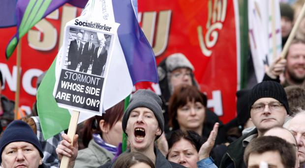 Thousands of public sector workers across Northern Ireland on strike in the biggest walk-out in a generation.