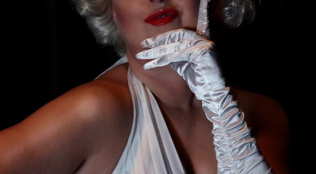 Frances Burscough as screen goddess Marilyn Monroe