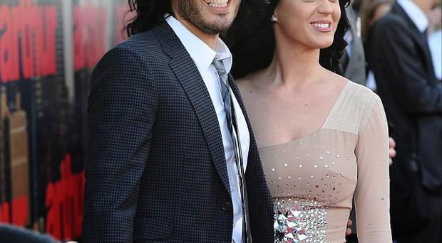 Katy Perry brushed off rumours she is divorcing Russell Brand