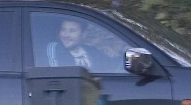 Police need information about a man who drove his Mitsubishi L200 onto a football pitch