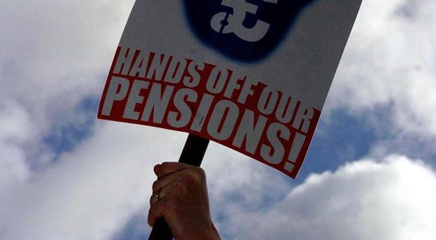 Unions accused the Government of acting unlawfully by planning to switch state pension rises away from the retail price index