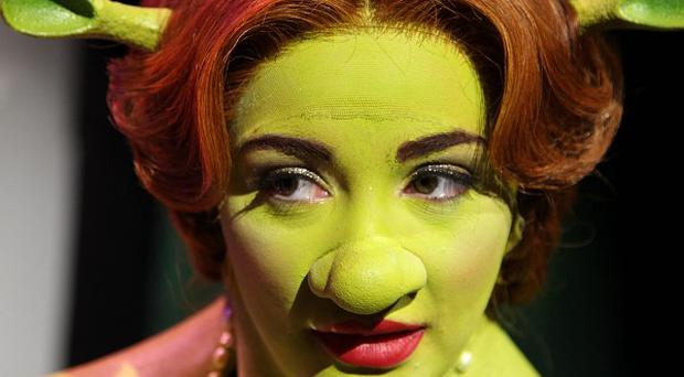 Chelsee Healey dressed up as Princess Fiona during training