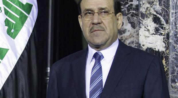 Iraqi prime minister Nouri al-Maliki was the target of a bomb attack in Baghdad, officials have said (AP)