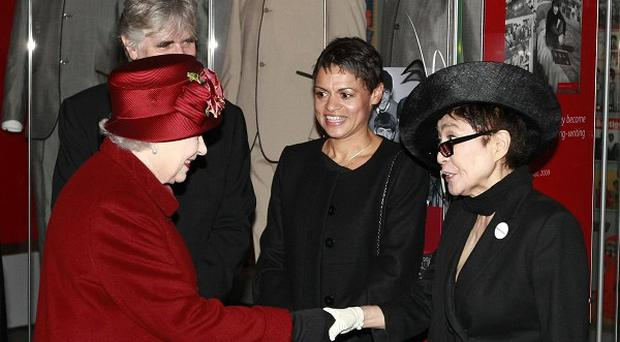 The Queen met Yoko Ono during her visit to the National Museum of Liverpool