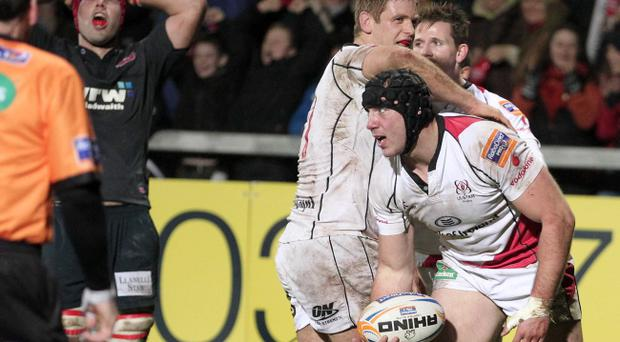Stephen Ferris was Ulster's hero on Friday night and his two tries rounded off a vital fightback from the hosts