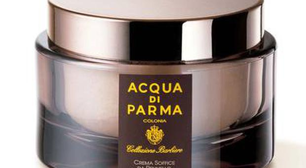 <b>1. Collezione barbiere shaving cream</b><br/> £37, Aqua di Parma, 01932 233861 This is a pricey, old-school cream but, enriched with almond oil and lemon balm, its scent is divine.