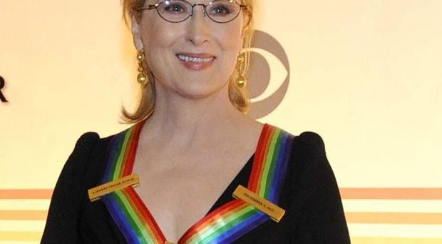 Meryl Streep arrives at the Kennedy Centre for the Performing Arts (AP)