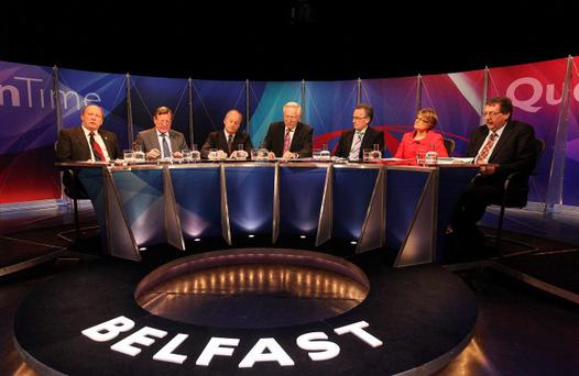 Man's world: Question Time from Belfast with Margaret Ritchie as the panel's only woman