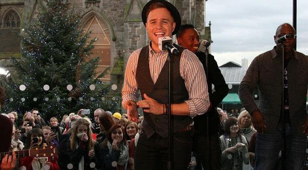 Olly Murs performed at the re-opening of Nando's Bullring Birmingham