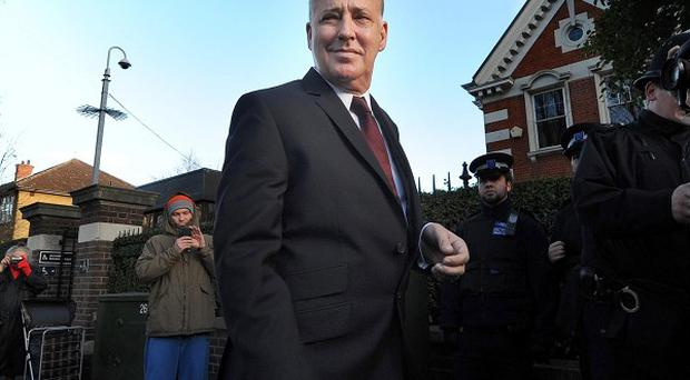 Michael Barrymore arrives at Ealing Magistrates Court in London where he admitted possession of cocaine