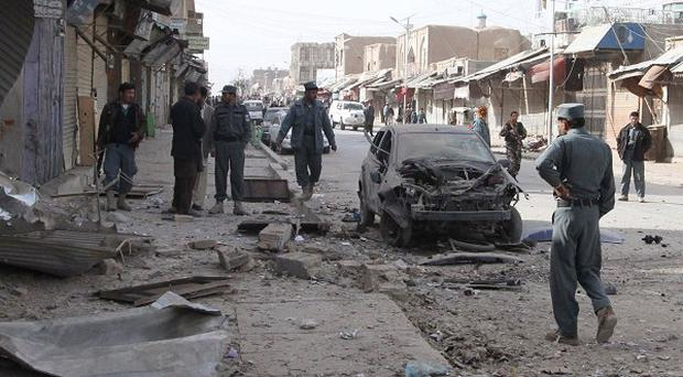 A suicide bomber killed 56 Shiite worshippers and injured more than 160 others in Kabul (AP)