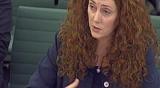 Former News International CEO Rebekah Brooks gives evidence to the Culture, Media and Sport Select Committee
