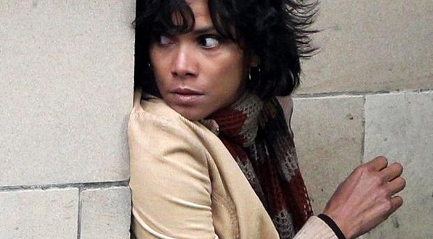 Halle Berry on the set of her new film Cloud Atlas