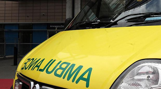 A schoolgirl has been taken to hospital after she fell down a lift shaft