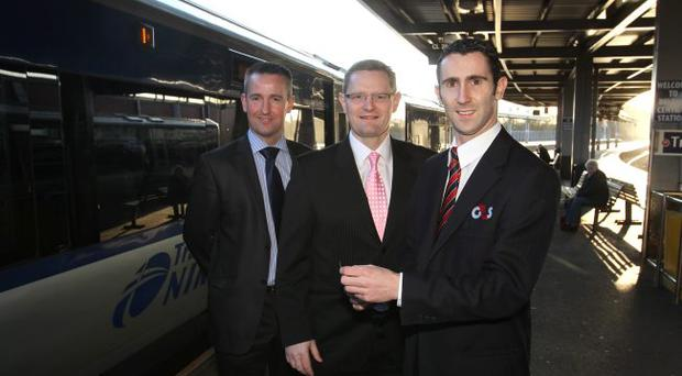 Hilton Parr, customer services manager for Translink, joins G4S managing director Barry Byrne and security officer Tim Woods to announce the £1.2m deal