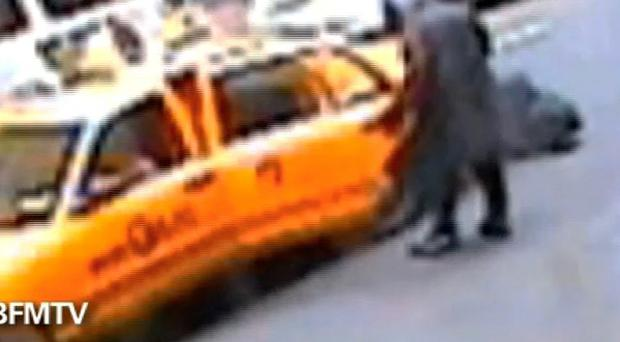 CCTV footage shows Dominique Strauss-Kahn geting into a taxi cab in New York after allegedly assaulting a hotel maid (AP)