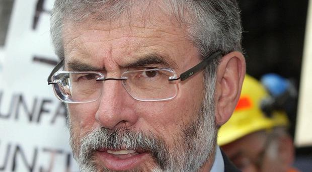 Gerry Adams was at the Dail to support Ballymurphy campaigners