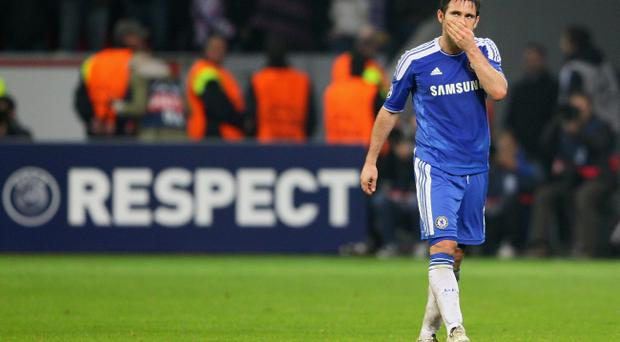 Frank Lampard played no part in Chelsea's 3-0 win against Valencia in the Champions League in midweek