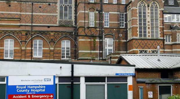 Patients had to be evacuated after a fire broke out at the Royal Hampshire County Hospital in Winchester