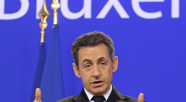 French President Nicolas Sarkozy said Britain had made 'unacceptable' demands (AP)