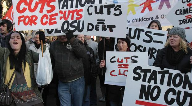 Protesters at the Dail to demonstrate over cuts to Community Employment Schemes