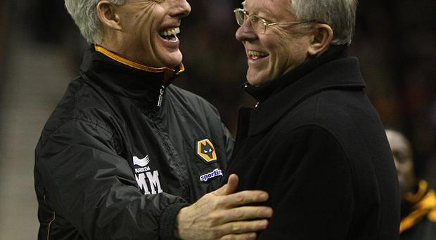 Mick McCarthy and Sir Alex Ferguson (right)