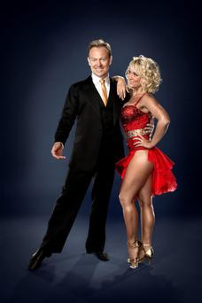 Noisy work: Jason Donovan and Kristina Rihanoff