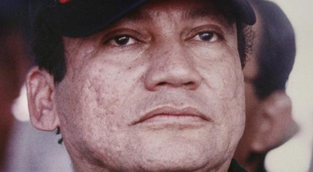 Manuel Noriega, pictured here in 1988, was jailed for the slaying of political opponents in the 1980s (AP)