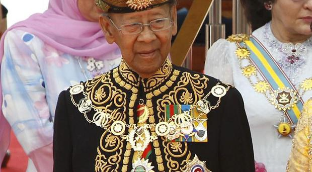 Malaysia's new King Sultan Abdul Halim during a welcoming ceremony at the Parliament Square in Kuala Lumpur, Malaysia (AP)