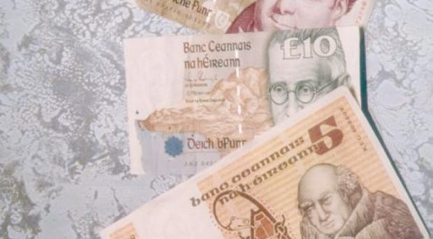 A new Irish punt would rise against other currencies