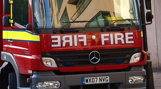 Firefighters tackled a fire at at Fred Wigg Tower in Leytonstone, east London