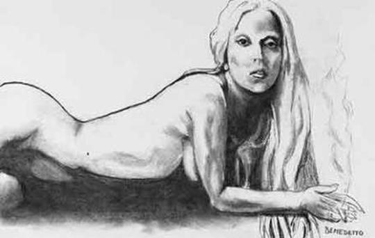 Old time crooner Tony Bennett's nude Lady Gaga is being auctioned on Ebay