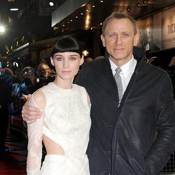 Rooney Mara and Daniel Craig arriving for the world premiere of The Girl With The Dragon Tattoo