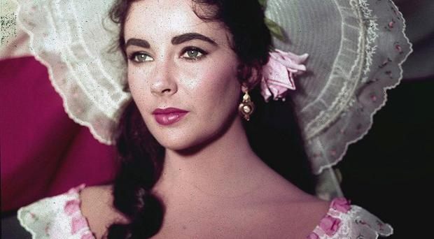 Elizabeth Taylor, who died of congestive heart failure aged 79, pictured in the 1957 film Raintree County