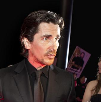 Christian Bale on the red carpet for new movie The Flowers of War in Beijing, China (AP)