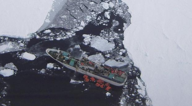 The Russian fishing vessel Sparta is taking on water in the Ross Sea near Antarctica (AP/Maritime New Zealand)