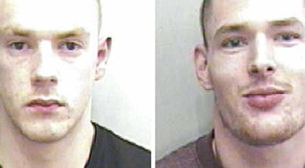 Craig Shaw, 21, left, and Daniel Miller, 25, were jailed for their part in a violent burglary in Nottingham