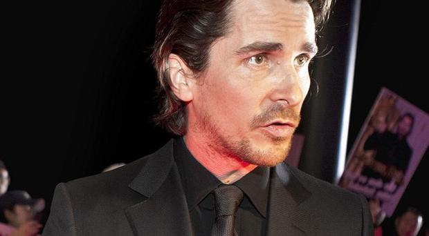 Christian Bale on the red carpet as he arrives for the new movie The Flowers of War in Beijing, China (AP)
